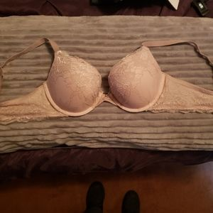 NWOT maidenform 38B push up,lace,pink-lilac bra